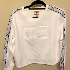 NWOT Hunter for Target White Crop Sweat Shirt. XL